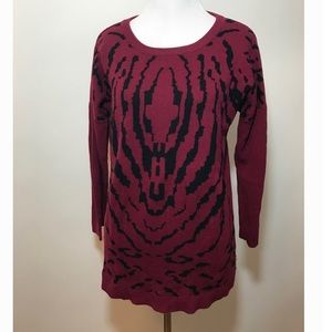 Spence burgundy pattern top